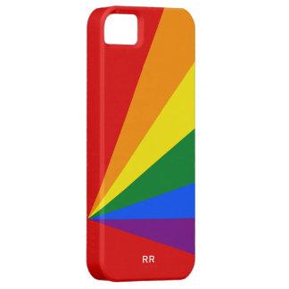 Bandera del arco iris del color de LGBT iPhone 5 Case-Mate Cárcasa