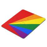 Bandera del arco iris del color de LGBT Posavasos De Puzzle