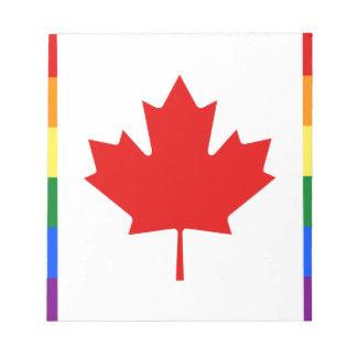 Bandera del arco iris del orgullo de Canadá Blocs De Notas