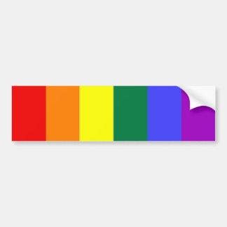 Bandera del arco iris del orgullo gay pegatina para auto