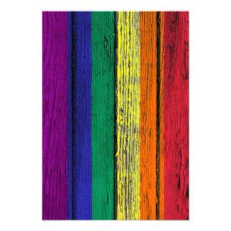 Bandera del arco iris del orgullo gay con el efect comunicado personalizado