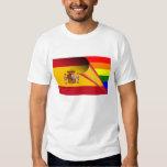 Bandera del arco iris del orgullo gay de España Playera