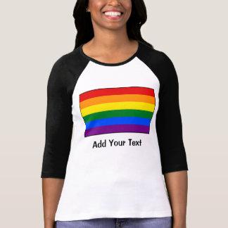 Bandera del arco iris del orgullo gay de LGBT Camisas