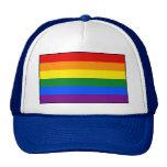 Bandera del arco iris del orgullo gay de LGBT Gorras De Camionero