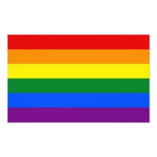 Bandera del arco iris del orgullo gay de LGBT Foto