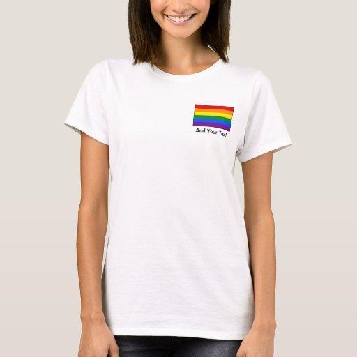 Bandera del arco iris del orgullo gay de LGBT Playera
