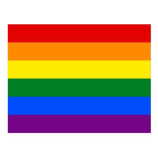 Bandera del arco iris del orgullo gay de LGBT Tarjetas Postales