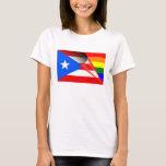Bandera del arco iris del orgullo gay de Puerto Playera