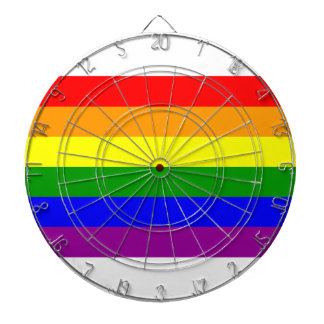 Bandera del arco iris del orgullo gay tablero de dardos