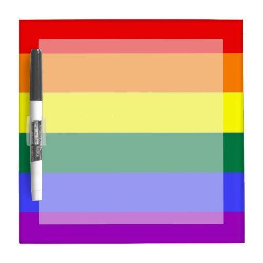 Bandera del arco iris del orgullo gay pizarra