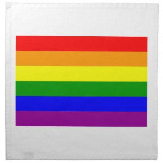 Bandera del arco iris del orgullo gay servilletas imprimidas