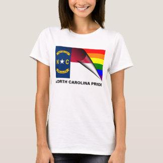 Bandera del arco iris del orgullo LGBT de Carolina Playera