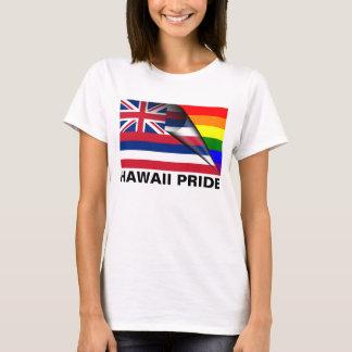 Bandera del arco iris del orgullo LGBT de Hawaii Playera