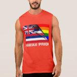 Bandera del arco iris del orgullo LGBT de Hawaii Camiseta Sin Mangas