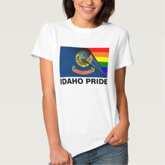 Bandera del arco iris del orgullo LGBT de Idaho Poleras
