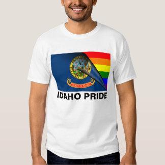Bandera del arco iris del orgullo LGBT de Idaho Remeras