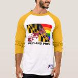 Bandera del arco iris del orgullo LGBT de Maryland Camisetas