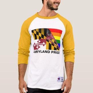 Bandera del arco iris del orgullo LGBT de Maryland Playeras