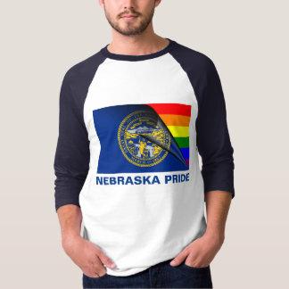 Bandera del arco iris del orgullo LGBT de Nebraska Playera