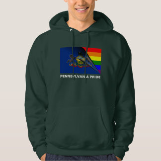 Bandera del arco iris del orgullo LGBT de Sudadera Con Capucha