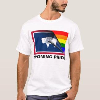 Bandera del arco iris del orgullo LGBT de Wyoming Playera