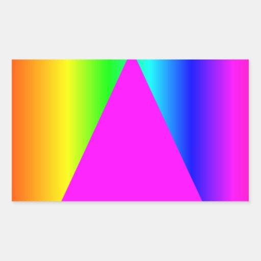 Bandera del arco iris del SIDA Rectangular Pegatinas
