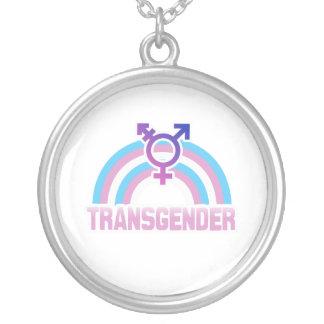 BANDERA DEL ARCO IRIS DEL TRANSEXUAL COLGANTE PERSONALIZADO