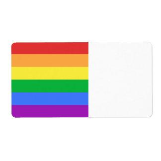 Bandera del arco iris etiquetas de envío