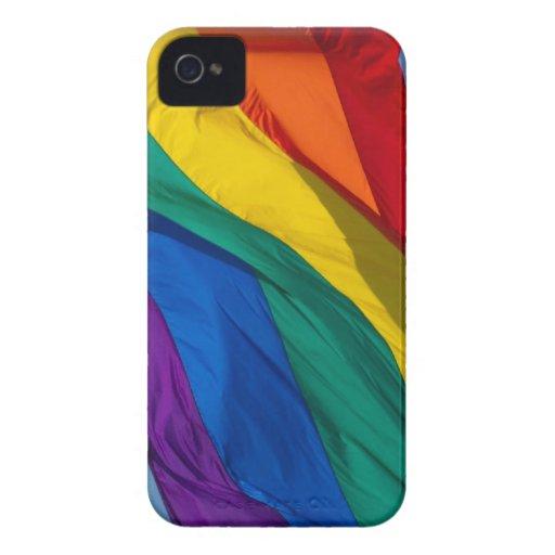 Bandera del arco iris iPhone 4 Case-Mate protectores