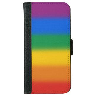 Bandera del arco iris funda cartera para iPhone 6