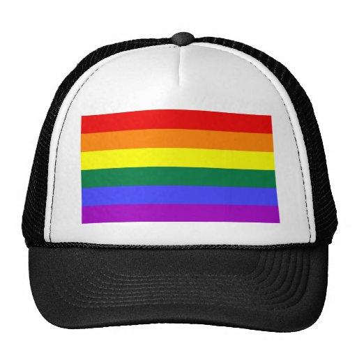 Bandera del arco iris gorras de camionero