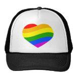Bandera del arco iris gorro de camionero