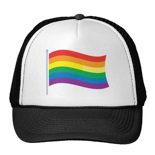 Bandera del arco iris gorros bordados