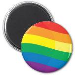 Bandera del arco iris iman de nevera