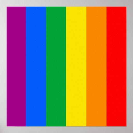 Bandera del arco iris impresiones