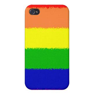 Bandera del arco iris iPhone 4/4S carcasas