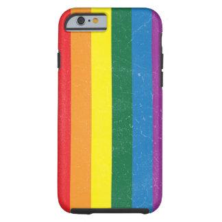 Bandera del arco iris - movimiento de LGBT Funda De iPhone 6 Tough