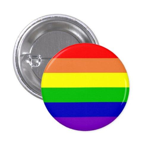 Bandera del arco iris pin redondo 2,5 cm