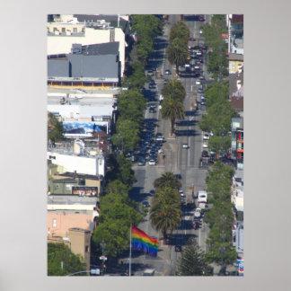 Bandera del arco iris póster