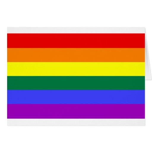 Bandera del arco iris tarjetas