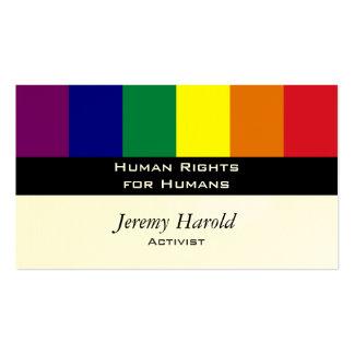 Bandera del arco iris plantillas de tarjeta de negocio