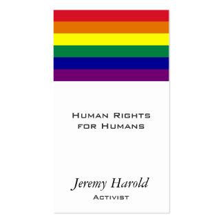 Bandera del arco iris tarjetas de negocios