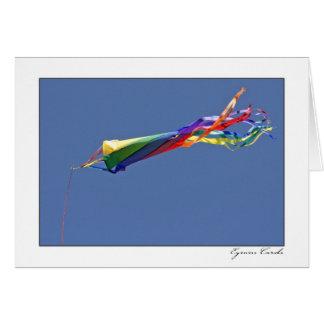 Bandera del arco iris tarjeta de felicitación