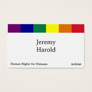 Bandera del arco iris tarjetas de visita