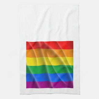 Bandera del arco iris toallas de cocina