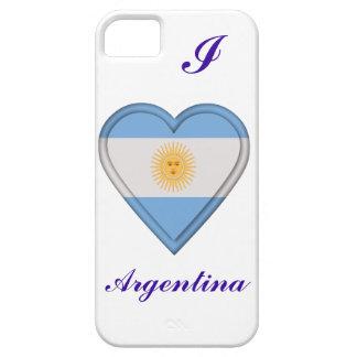 Bandera del argentino de la Argentina iPhone 5 Carcasas