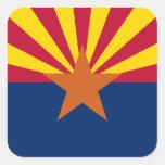 Bandera del Arizonan Pegatina Cuadrada
