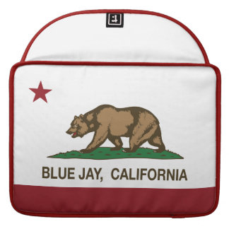Bandera del arrendajo azul de la república de Cali Fundas Para Macbook Pro