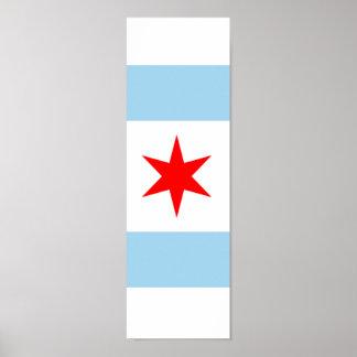 Bandera del arte 1 del poster de Chicago de 4
