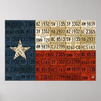 Bandera del arte solitario de la placa del estado